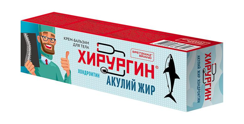 Спецмазь ХИРУРГИН® SPETZMAZ BRAND® Хондроитин Акулий жир крем-бальзам для тела